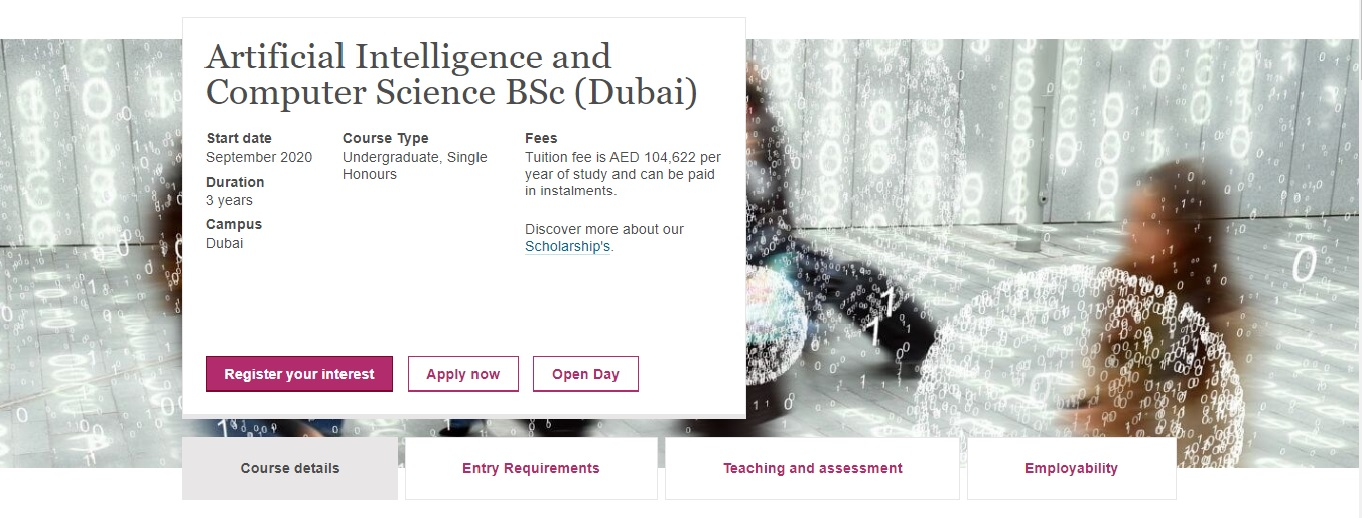 Artificial Intelligence and Computer Science BSc