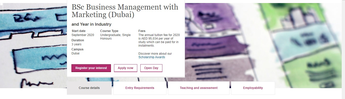 BSc Business Management (Dubai) with Year in Industry