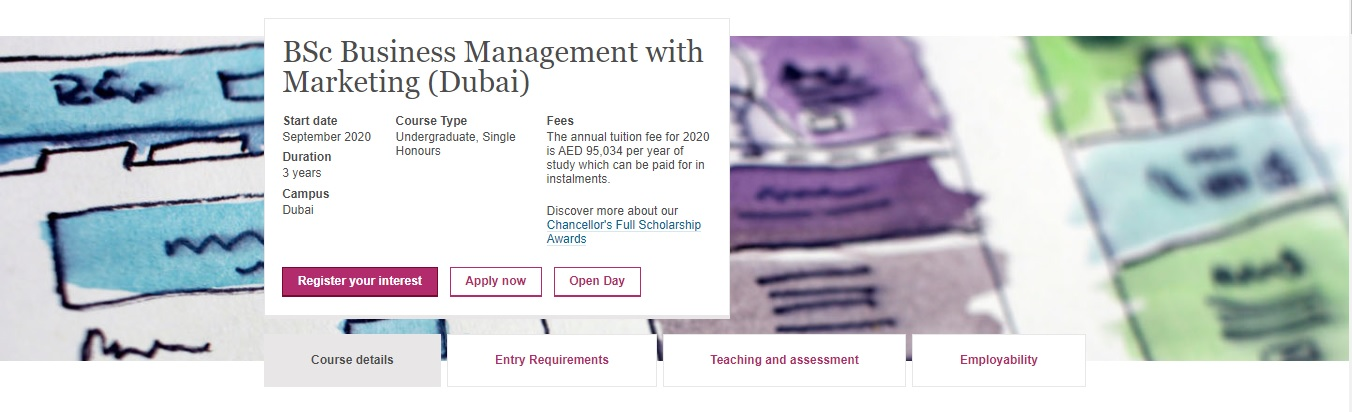 BSc Business Management with Marketing (Dubai)
