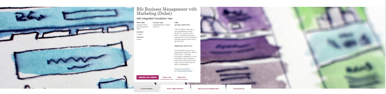 BSc Business Management with Marketing (Dubai) with Integrated Foundation Year