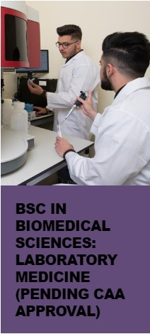 BSc in Biomedical Sciences: Laboratory Medicine (Pending CAA Approval)