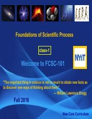 FCSC –   Foundations of Science Process