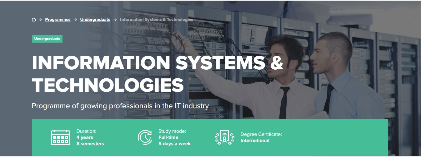 INFORMATION SYSTEMS & TECHNOLOGIES
