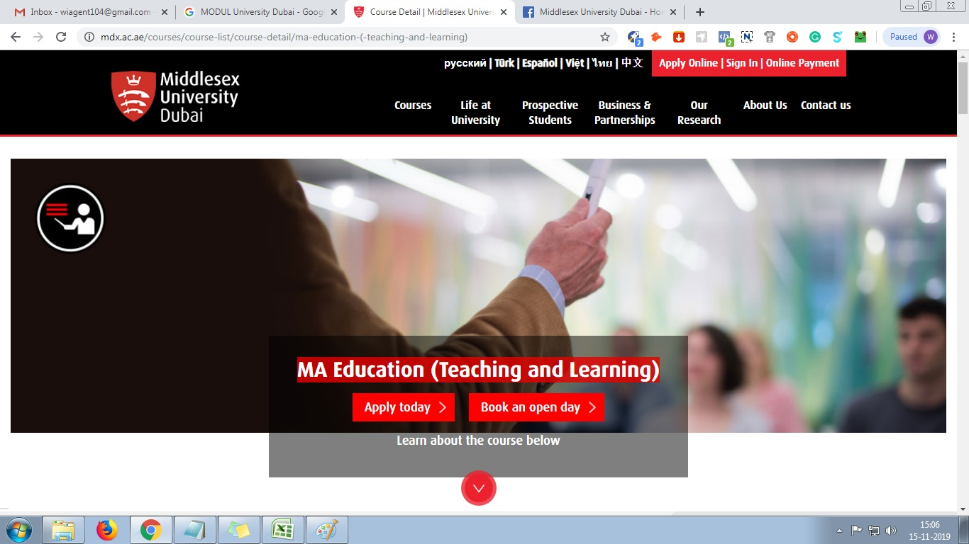 MA Education (Teaching and Learning)