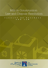 MSc Construction Law and Dispute Resolution