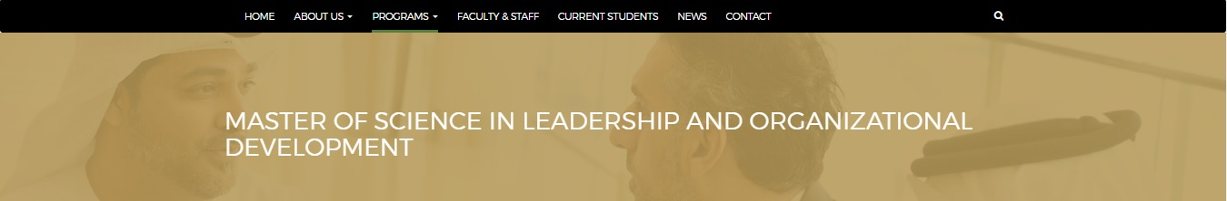 Master of Science in Leadership and Organizational Development