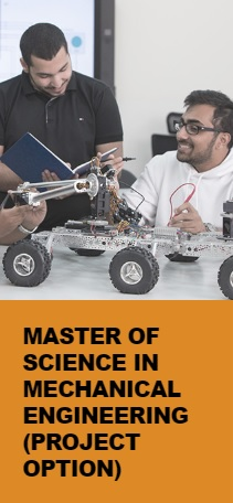 Master of Science in Mechanical Engineering (Project option)
