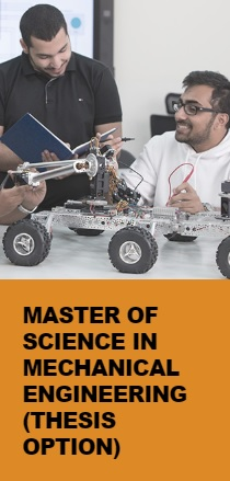 Master of Science in Mechanical Engineering (Thesis option)