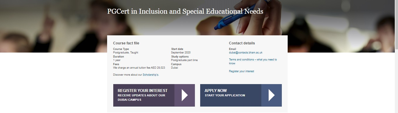 PGCert in Inclusion and Special Educational Needs